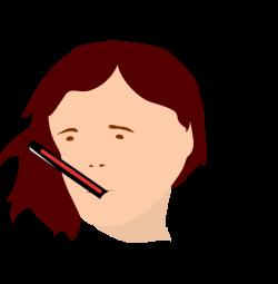 Sick Girl Clip Art at Clker.com - vector clip art online, royalty ...