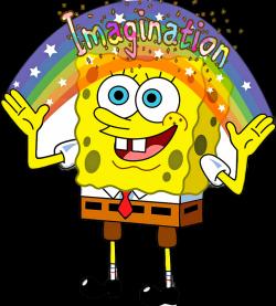 scwords words spongebob imagination rainbow...