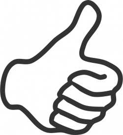 Clipart - Thumb up - white