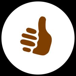 Thumbs Up Symbol Clip Art at Clker.com - vector clip art online ...
