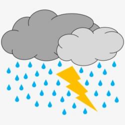 Thunder Clipart Thunder Rain - Thunderstorm Clipart Black ...