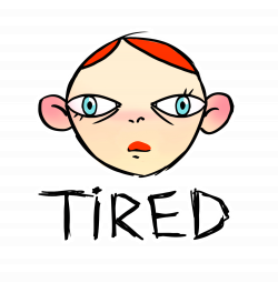 Tired Girl Sticker by Fymsa for iOS & Android | GIPHY
