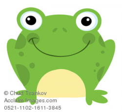Clipart Illustration of A Cute Green Frog With a Smile on ...