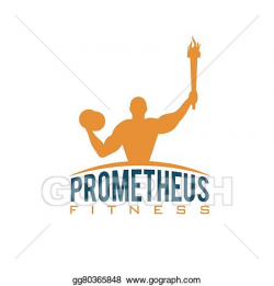 Vector Stock - Fitness prometheus with man holding a torch ...