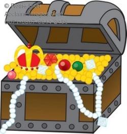 treasure clipart | Stock Clipart Illustration of a Treasure Chest ...