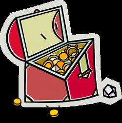 Pirate's Treasure Chest - Vector Image