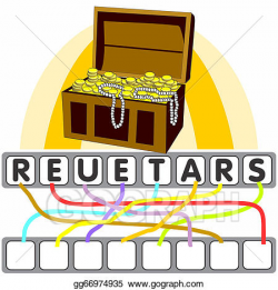 EPS Illustration - Word game with the treasure. Vector ...