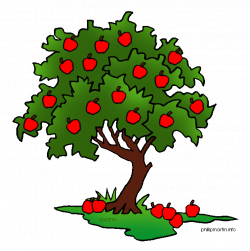 Tree with fruit clipart