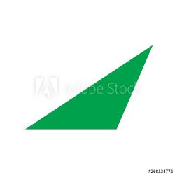 green scalene triangle basic simple shapes isolated on white ...