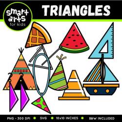 Triangle Shapes Clip Art - Cartoon - digital graphics - triangle - triangle  shapes - instant download - SVG - Vector - png clipart - 2d