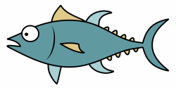 Tuna Fish Cartoon Clipart