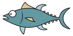 Tuna Fish Cartoon Clipart