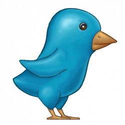 Painted-Twitter-Bird icon 512x512px (ico, png, icns) - free download ...