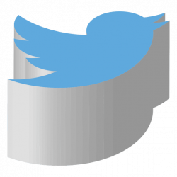 Twitter isometric icon - Transparent PNG & SVG vector