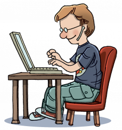 Typing Clipart