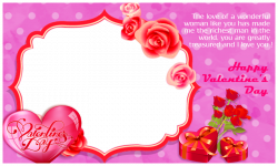 Valentines Day Frame PNG Pic | PNG Arts