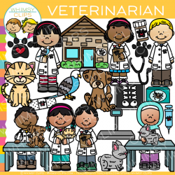 Kids Veterinarian Clip Art , Images & Illustrations | Whimsy Clips