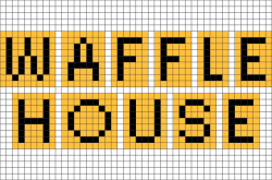Waffle House Pixel Art – BRIK