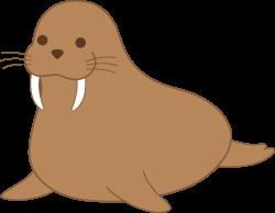 Chubby Brown Walrus Clip Art - Free Clip Art