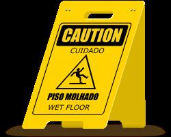 Clipart - Wet Floor A-Frame