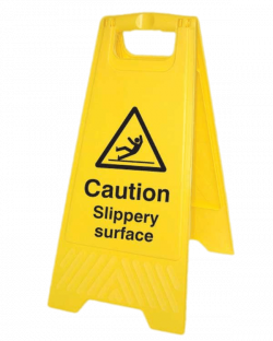 Caution Slippery Surface Board transparent PNG - StickPNG