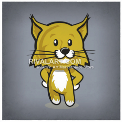 Clipart a Wildcat Cub Graphic