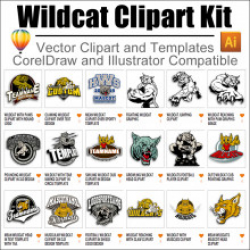 Wildcat Clipart Kit 01 for CorelDraw and Illustrator