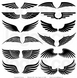Royalty Free Stock Logo Clipart of Angel Wings | arts and ...