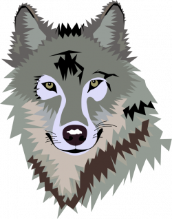 Wolf Face Clipart #1   To draw up   Pinterest   Wolf face, Clip art ...