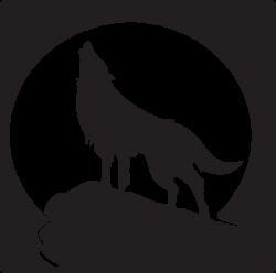 free clip art wolves | Howling Wolf clip art - vector clip art ...