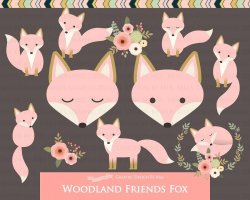 Pink Fox Clipart Pattern #Foxes#Art#Images#cm ...