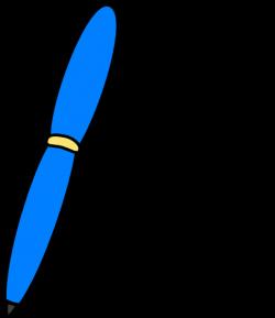 Blue Pen Write Clip Art at Clker.com - vector clip art online ...