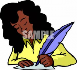 Clip Art African American Writer Clipart