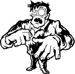 Zombie Clipart Black And White | Free download best Zombie ...
