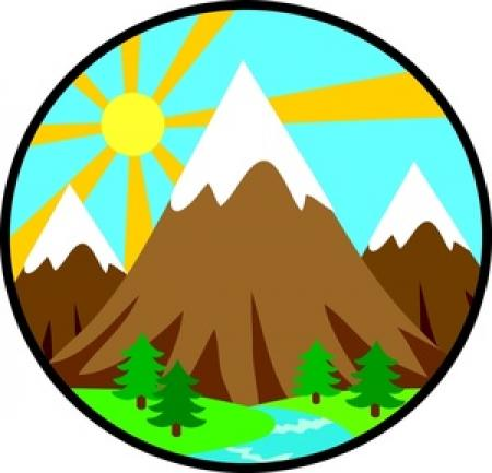 Mountain brown. Clipart free download on